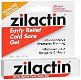 Zilactin Cold Sore Relief Gel - .25 oz (7.1 g), Pack of 6