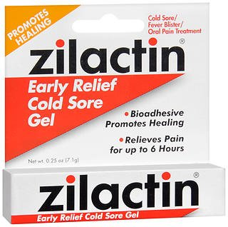 Zilactin Cold Sore Relief Gel - .25 oz (7.1 g), Pack of 6 by Zilactin