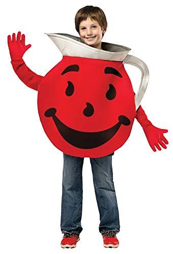 Funny Halloween Costumes For Big Guys (Boy's Kool Aid Guy Outfit Funny Theme Teen Halloween Fancy Costume, Teens (13-16))