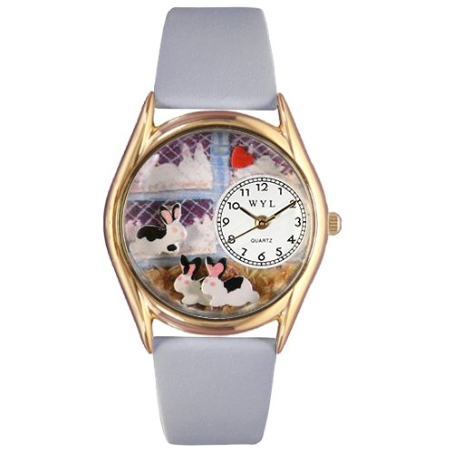 whimsical-watches-kids-c0110008-classic-gold-bunny-rabbit-baby-blue-leather-and-goldtone-watch