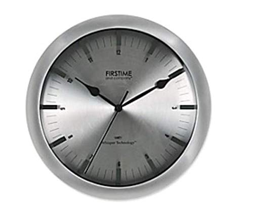 Whisper Technology Stanton Steel Wall Clock