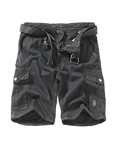 EAGLIDE Men's Regular Fit Twill Cargo Shorts, Mens Athletic Breathable Cotton Ripstop Pockets Cargo Shorts (L1201-Grey, 38W)