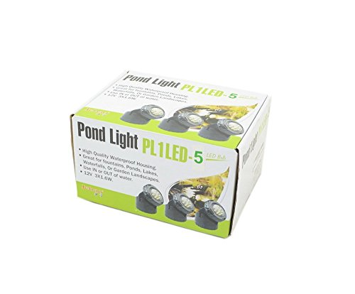 Jebao Submersible LED Pond Light with Photcell Sensor, Set of 5 by Jebao (Image #1)
