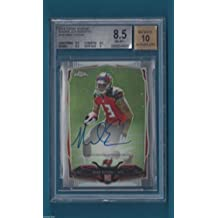 Mike Evans - 2014 Topps Chrome Rookie Autographs #185 - AU RC - Beckett Graded - Beckett Authentication