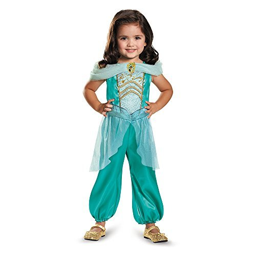 Toddler Princess Jasmine Costumes (Disguise 82893S Jasmine Toddler Classic Costume, Small (2T) by Disguise)