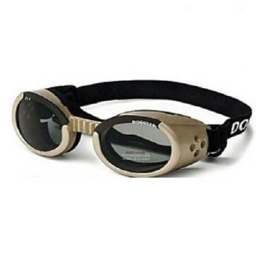 Doggles ILS Large Chrome Frame and Smoke Lens, My Pet Supplies