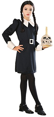 Girls Halloween Costume- Addams Family Wednesday Kids Costume Medium -