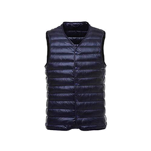 silver Bas Épaule Portable Gilet neck Adong Veste Mince Doublure V Blue l Vers Le Hommes UxC7n4