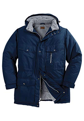 Boulder Creek Men's Big & Tall Expedition Parka Coat, Navy Big-2XL