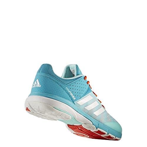 adidas Court Stabil, Zapatillas de Balonmano para Hombre Varios colores (Aquene / Ftwbla / Energi)