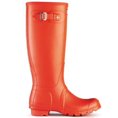 Womens Hunter Original Tall Wellington wasserdichte Winter Schnee Regen Stiefel Clementine
