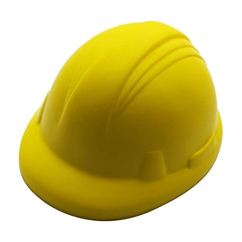 eBuyGB Anti Stress Reliever Ball Squeezy Toy Hand Exercise - Great for Relieving Stress and Tension (Builders Hat)]()