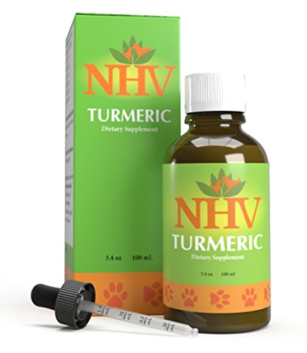 NHV Turmeric - All Natural Supplement for Cats, Dogs & Small Pets | Natural Anti-inflammatory with Pain Reducing Properties for Joint Pain, Improves Liver Function, Support Heart Health, Beneficial f