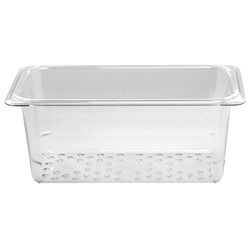 (Cambro Camwear Clear Polycarbonate Colander Pan - 1/3 Size 5