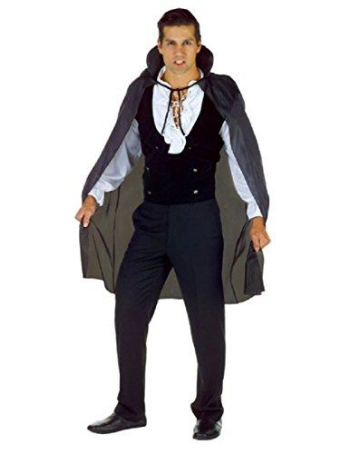 [Underwraps Men's 38 Inch Taffeta Cape, Black, One Size] (Last Minute Halloween Costumes Ideas For Adults)