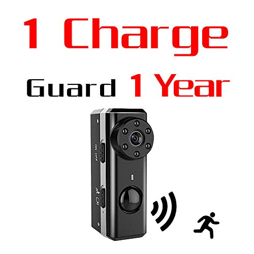 (PIR Spy Hidden Camera,ZTour 1080P HD Smallest Mini Nanny Video Recorder Covert Security Camera,Tiny Compact,with Night Vision and Motion Detection,Max 1 Year Standby Time for Home,Office Surveillance)