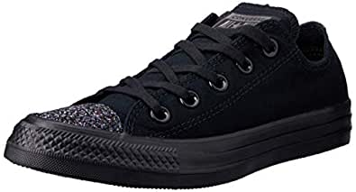 Converse Chuck Taylor All Star Sneakers Women, Black/Black, 5.5 US