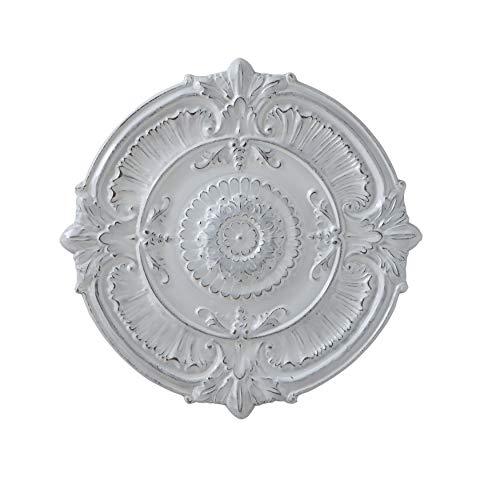 (Creative Co-Op White Round Iron Ceiling Medallion)