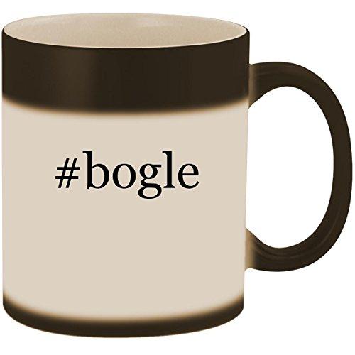 #bogle - 11oz Ceramic Color Changing Heat Sensitive Coffee Mug Cup, Matte Black