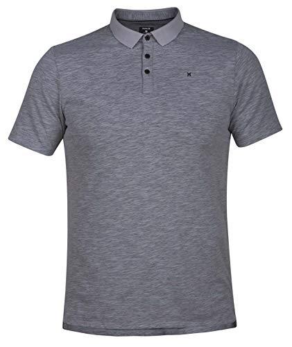 (Hurley Men's Nike Dri-Fit Short Sleeve Lagos Polo, Cool Grey,)