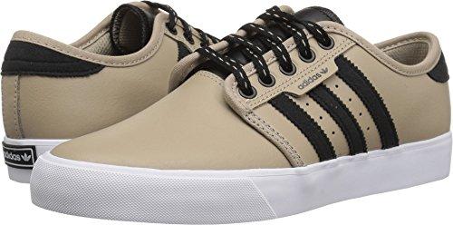 adidas Originals Unisex Seeley Skate Shoe, Trace Khaki/Black/White, 1.5 M US Little Kid