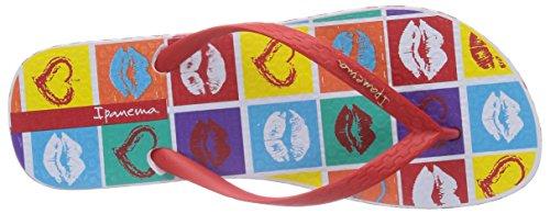 Ipanema Classica Temas - Sandalias de goma para mujer rojo - Rot (White/Red/Blue 23419)