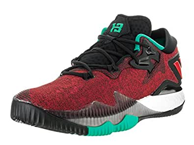 adidas Performance Men's Crazylight Boost Low 2016 Basketball Shoe, Black/White/Shock Mint, 7.5 M US