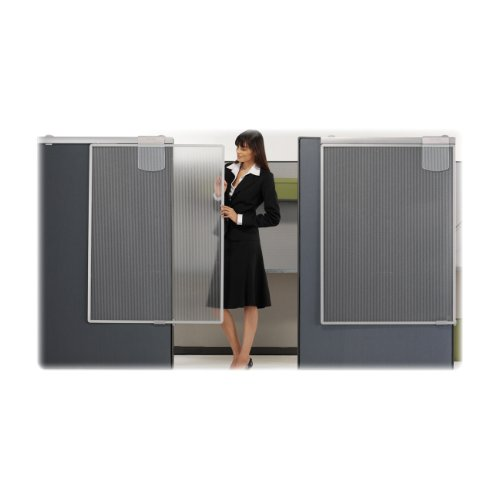 Quartet Workstation Privacy Screen, 36 x 48 Inches, Sliding, Partial Length (WPS1000) by Quartet