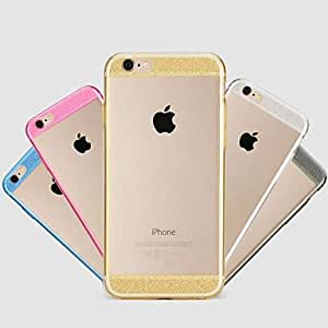 SHOUJIKE Flashing Transparent Back Cover Case for iPhone 6 Plus(Assorted Colors) , Black