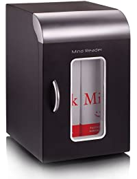 Mind Reader Compact Portable Personal Mini Fridge, For Home, Office, Six Can Capacity, Holds 2 Quarts of Milk, Black