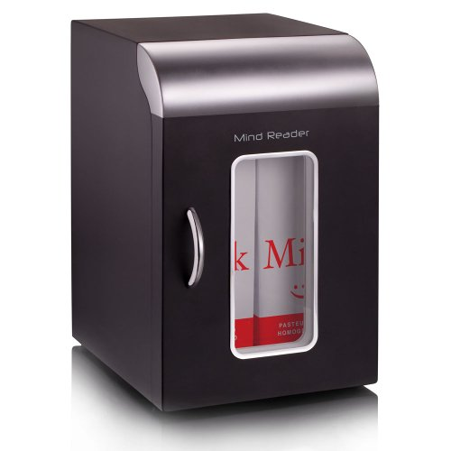 "Mind Reader"" Cube"" Mini Coffee Station Refrigerator, Black"