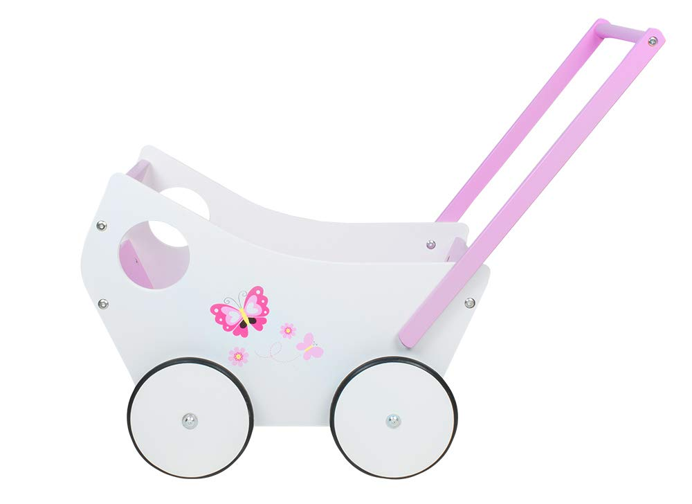 MALATEC Andador de muñeca-bebé de Madera, empujador para niña #4583: Amazon.es: Juguetes y juegos