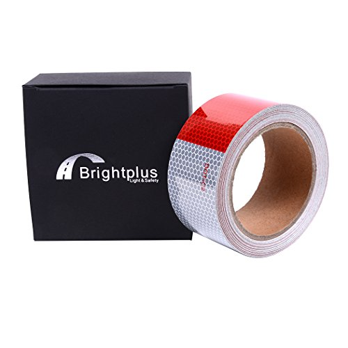Reflective Helmet Tape (DOT-C2 Safety Tape Reflective Tape Auto Car Red And White Adhesive Ultra Bright Honeycomb Polygonal Reflective Strip(2