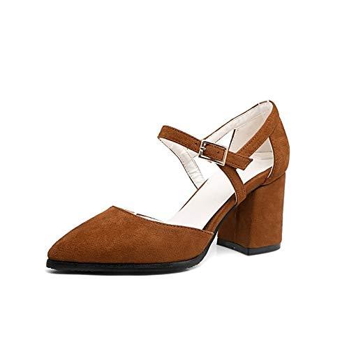 Comfort Spring Gray Heel Suede ZHZNVX Black Heels Shoes Summer Chunky Brown Grey amp; Women's qxAw4g6Y
