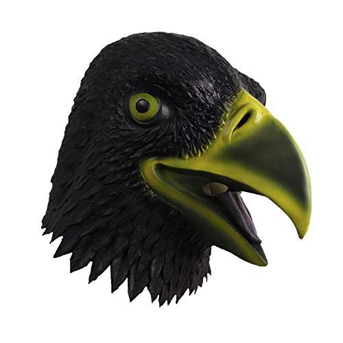 Waylike Black Eagle Hawk Mask Halloween Costume Bird Animal Latex Head Mask ()