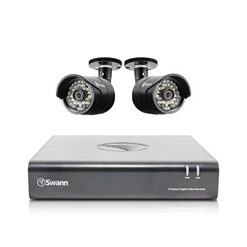 Swann 4-Channel, 2-Camera Indoor/Outdoor High-Definition DVR Surveillance System Black SWDVK-444002-US