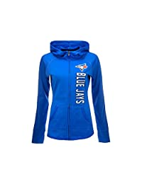 Toronto Blue Jays MLB Women's Regenerate Zip Hoodie #20912156 - Size Medium