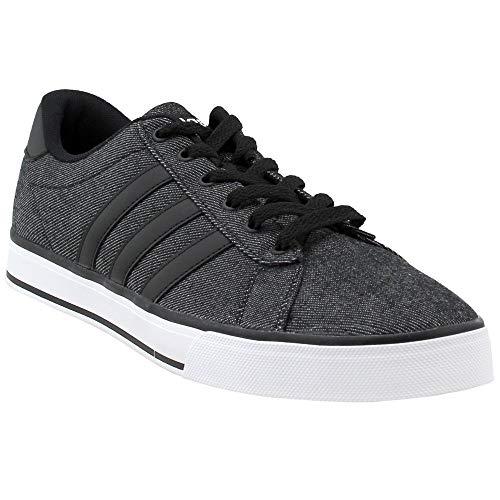 adidas NEO Men's SE Daily Vulc Lifestyle Skateboarding Shoe,Black/Black/White,6.5 M US
