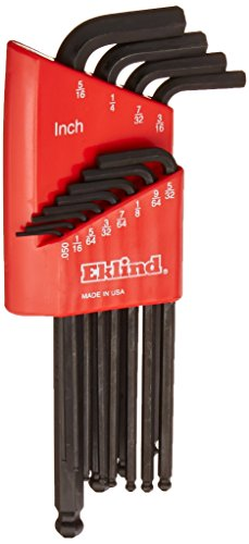 Eklind 13212 Long Series Ball-Hex-L Key Set 12 Count