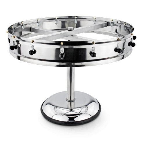 New Star Stainless Steel Order Wheel Ticket Holder, 16 Clips, 18-Inch Dia with 10-Inch Chrome Heavy Base, 1 (Ticket Base)