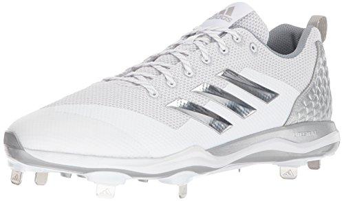 Adidas Hombres Poweralley 5 Baseball Baseball Blanco / Plata Metalizado / Gris Claro