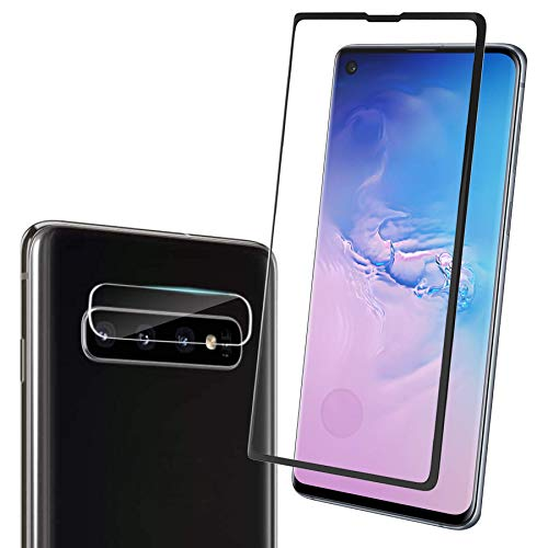 "Price comparison product image Tempered Glass Screen Protector for Galaxy S10 Plus[6.4""] with Camera Lens Protector,  Absolutely Support Fingerprint Reader[Easy Installation][Case Friendly][HD Clear]"