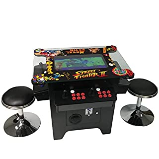 """Cocktail Arcade Machine 1162 Games in 1 with 80's and 90's Classics Includes 2 Chrome Stools 5 YEAR WARRANTY NEW LARGE 26"""" LED Monitor"""