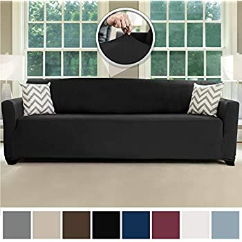 Amazon.com: Easy-Going Recliner Fleece Stretch 4-Piece Sofa ...