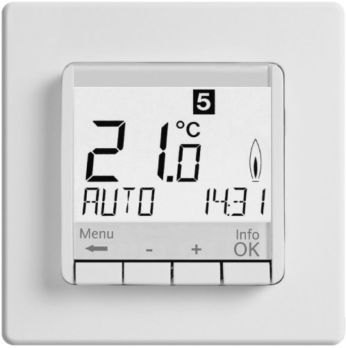 Digital Raumthermostat Mit Gira Standard 55 Glanz Rahmen Fur