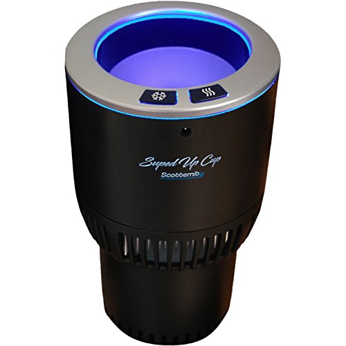 SUPED UP CUP-Cold/Hot Electric Drink Holder 12V, Keeps Your Drink Cool/Warm In Minutes | Plug & Play In: Car Truck SUV RV | Perfect for Commuter/Traveler/Recreation/Worksite + Free eBook (Silver)