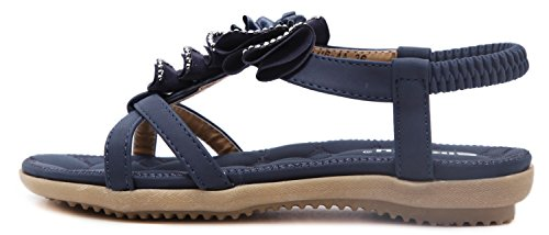 Correa Gold Mujer Jewels DolphinBanana Sandalias Summer Coloridas para de Navy Ring 601 Blue qwnqtfXTx