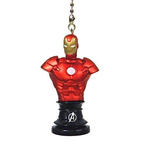 DC comics SUPER HERO superhero character Ceiling FAN PULL light chain (Iron Man bust)