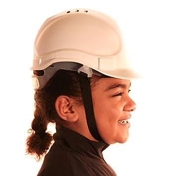 enfants v/éritable rigide Chapeau casque de s/écurit/é avec mentonni/ère Taille unique r/églable Convient pour 4 Je suis en charge denfants 12/ans Conforme /à la norme de s/écurit/é En397 bleu
