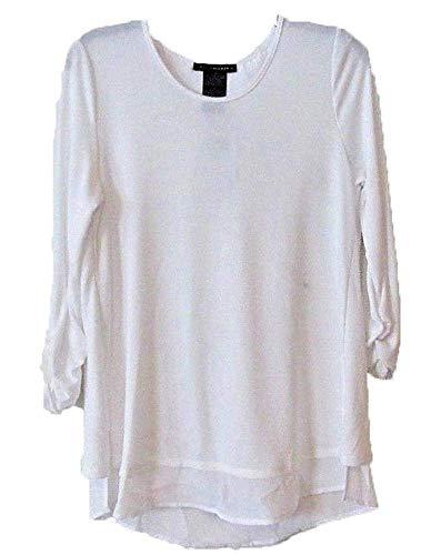 3 Elements Panel - Grace Elements Womens 3/4 Sleeve Top (XX-Large, White)